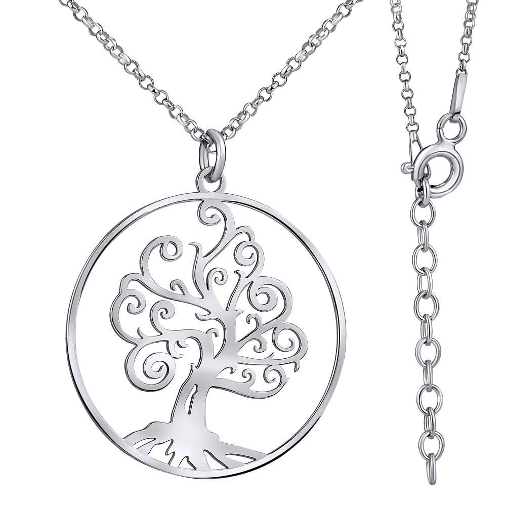 Stříbrný náhrdelník TREE OF LIFE TTT4002RS