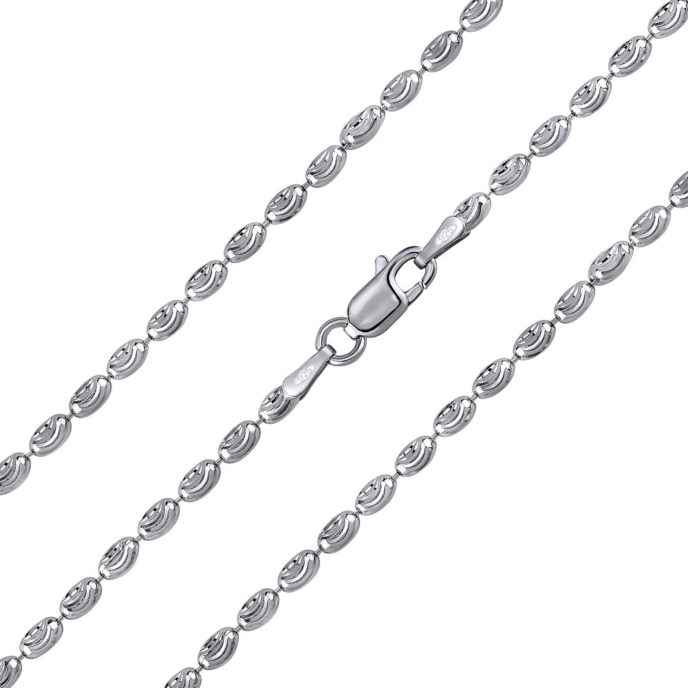 Stříbrný kuličkový řetízek fancy diamond cut 2,4 mm TTT62J8T