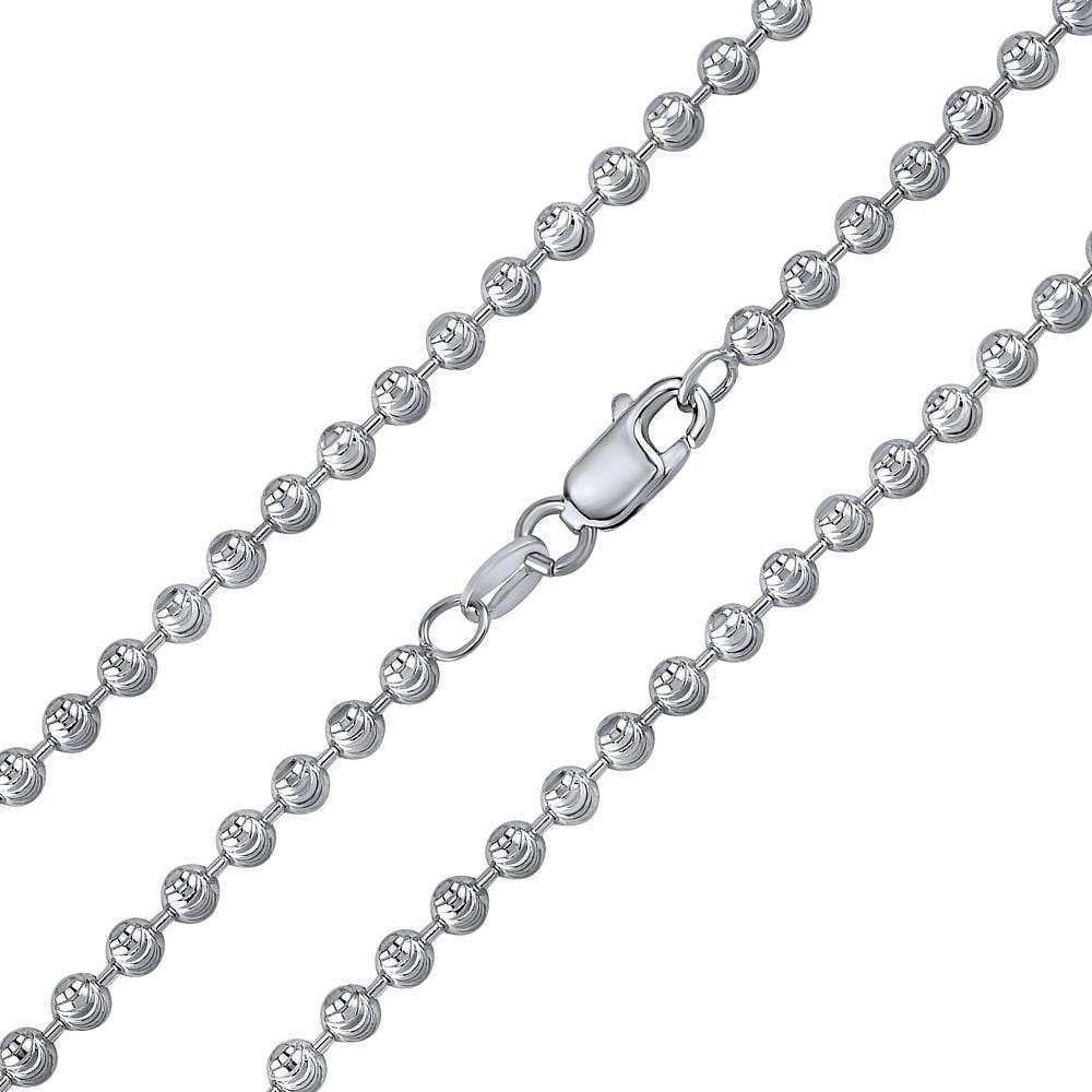 Stříbrný kuličkový řetízek fancy diamond cut 3 mm TTT16A4N