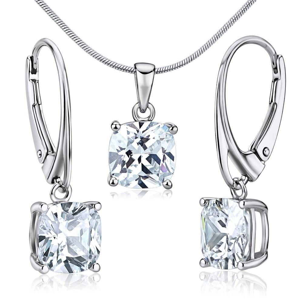 Souprava stříbrných šperků NOVALIE náušnice a přívěsek JJJS0593