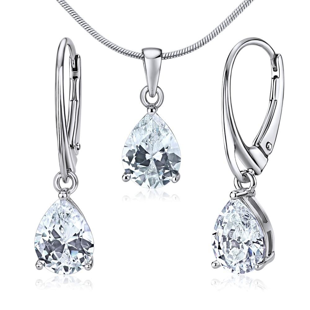 Souprava stříbrných šperků JUNE náušnice a přívěsek JJJS0591
