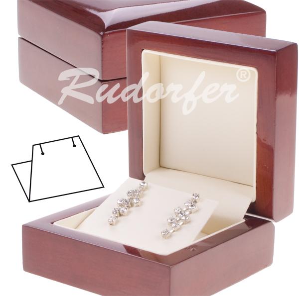 Dřevěná dárková krabička na náušnice 15110.15