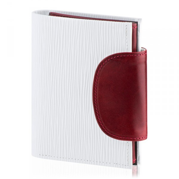 Dámská peněženka Rondo, bílá/bordó DK-065