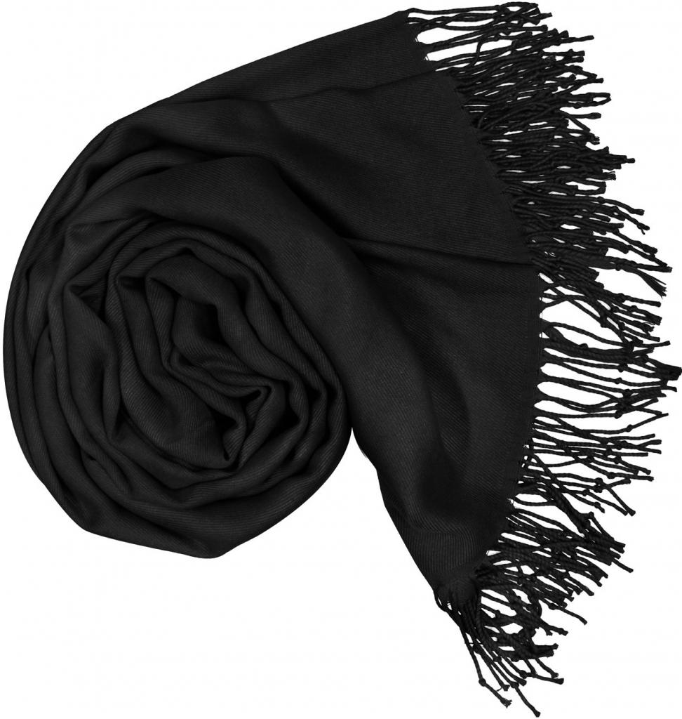 Carlo Romani Dámská černá pašmína P1