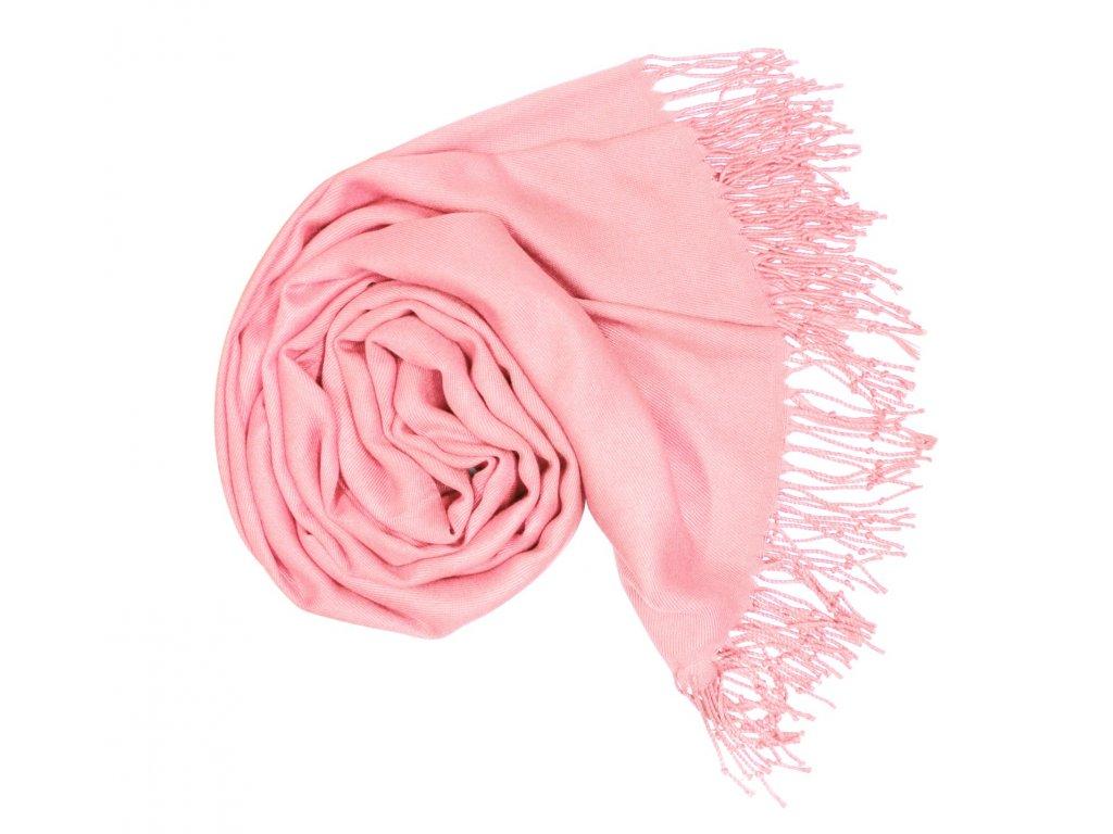 Carlo Romani Dámská růžová pašmína P6