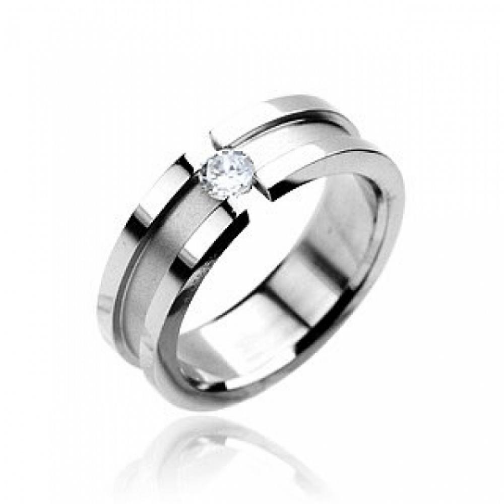 Prsten z chirurgické oceli R7079