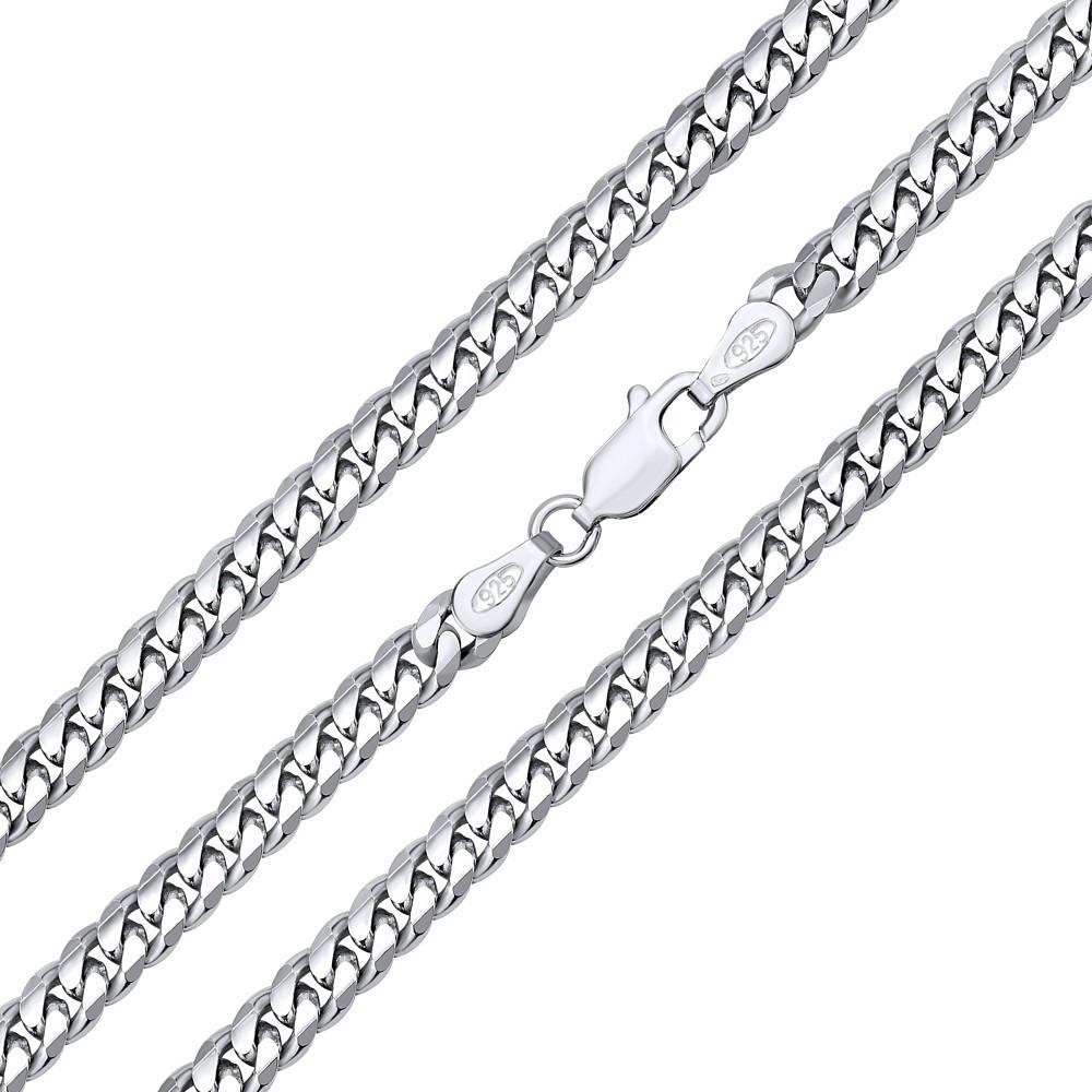 Stříbrný řětěz CURB 4 mm - rhodiovaný TTTN40CURB