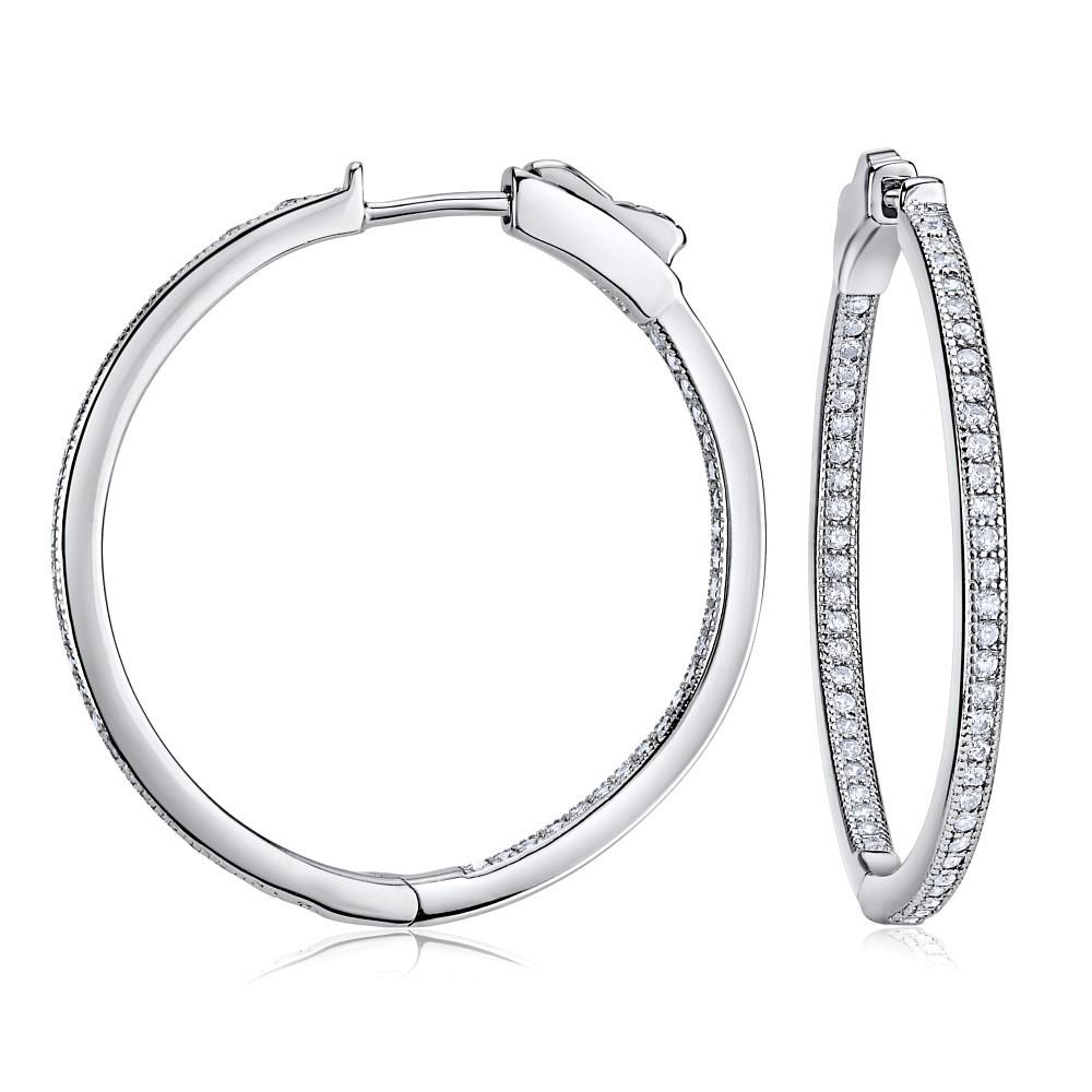 Stříbrné kruhové náušnice KARIN 3 cm JJJ0107