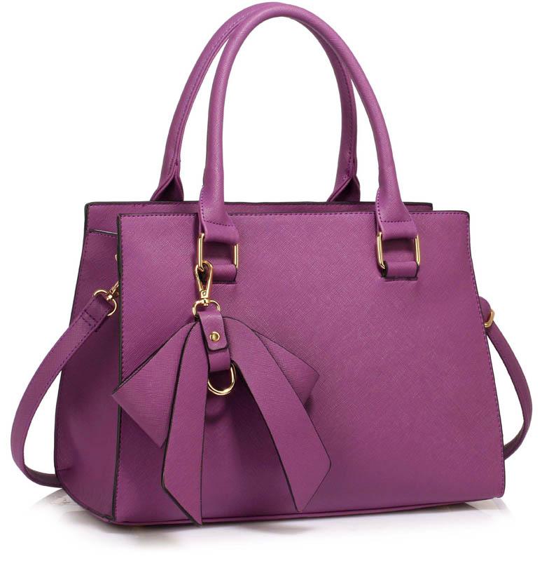 LS dámská kabelka LS00374C - Purple