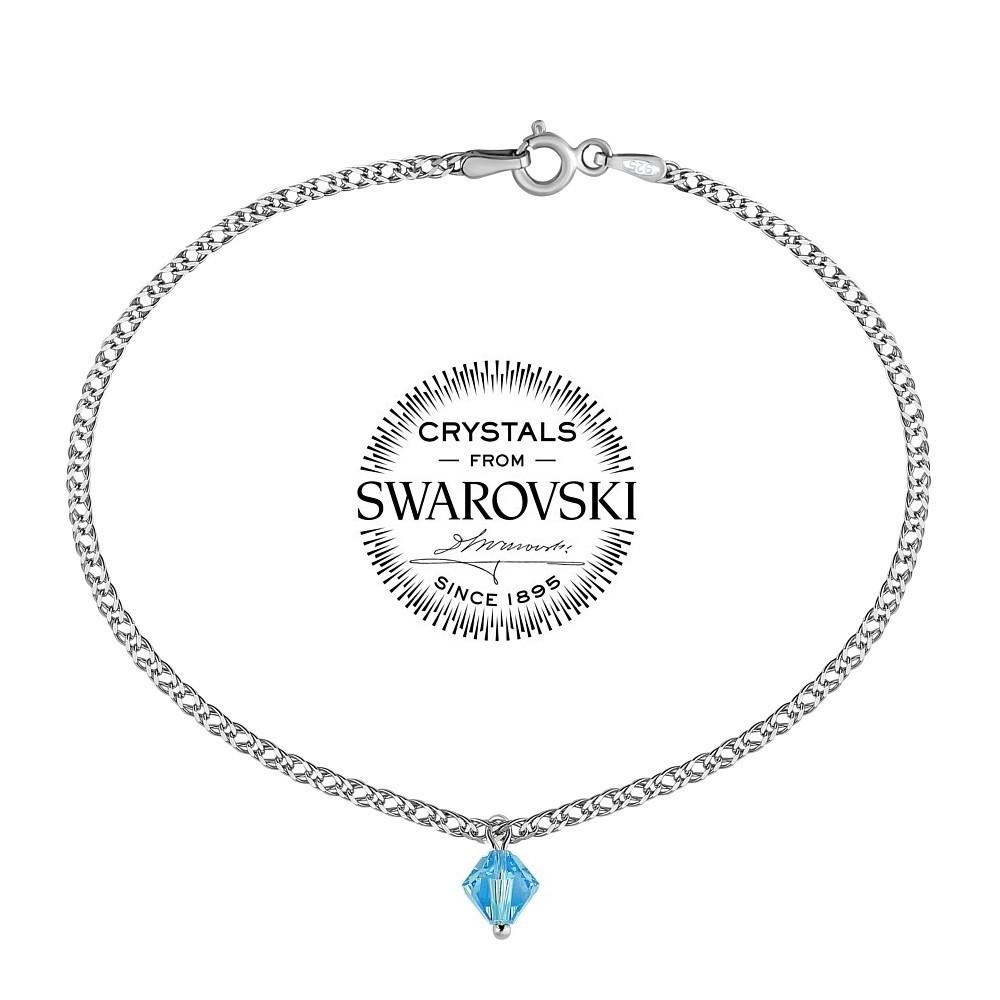 SILVEGO stříbrný náramek se Swarovski® Crystal 6 mm VSW066B