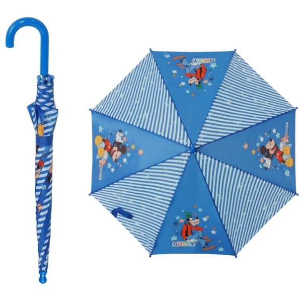 Holový deštník vystřelovací dětský mickey&goofy