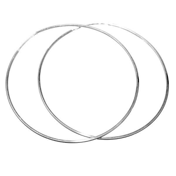 Stříbrné náušnice kruhy 8 cm - odlehčená verze ZTE0325180