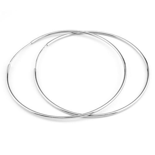 Stříbrné náušnice kruhy 6 cm - odlehčená verze ZTE0325160