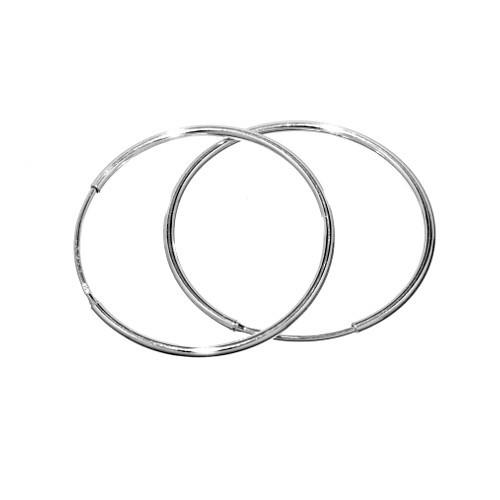 Stříbrné náušnice kruhy 3 cm - odlehčená verze ZTE0325130