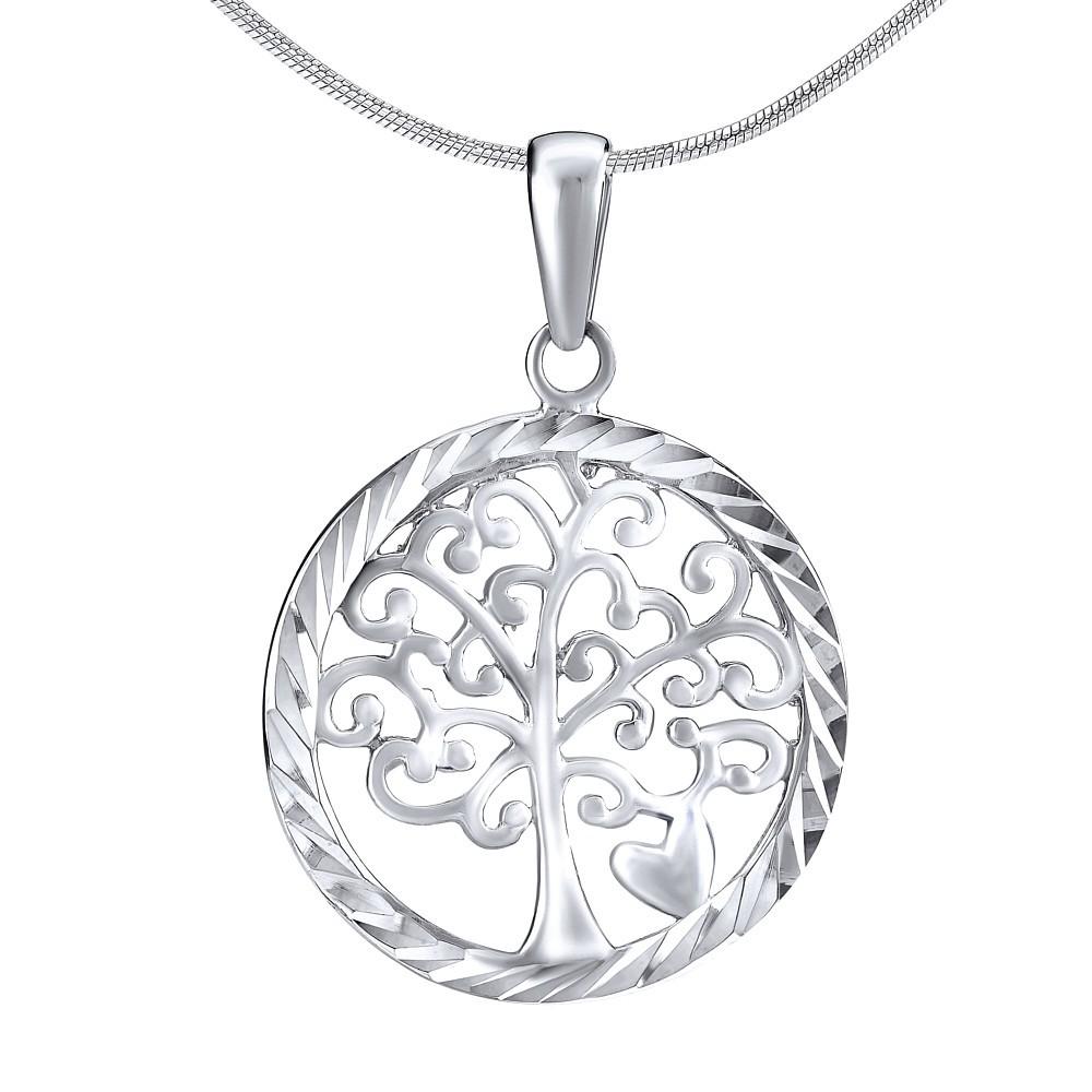 Stříbrný přívěsek strom se srdíčkem ZT51290