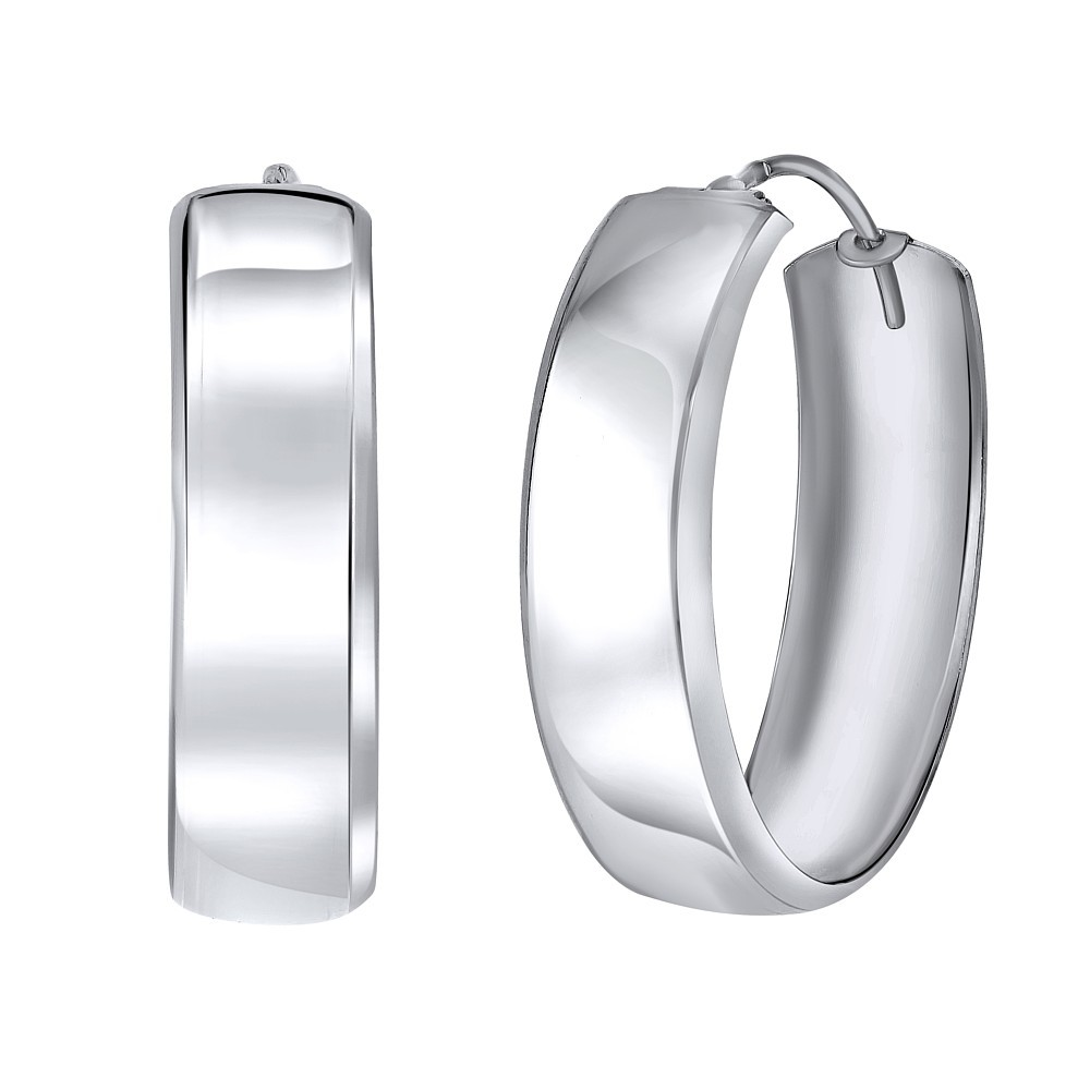 Stříbrné náušnice kruhy - 3 cm SILVEGOB3113625