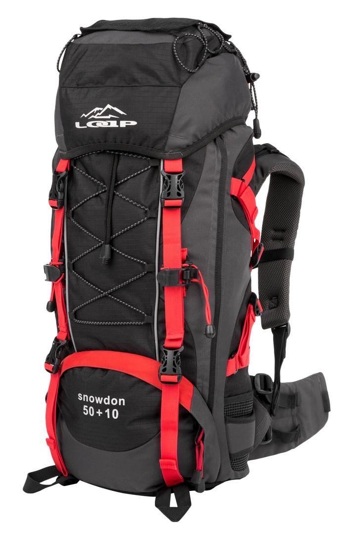 15bed2d8b2 SNOWDON 50+10 turistický batoh červená