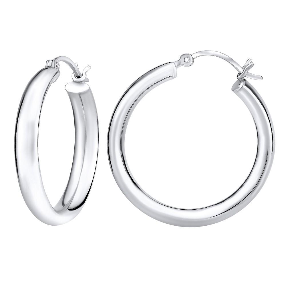 Stříbrné náušnice kruhy 3 cm x 5 mm ZTJ8325830