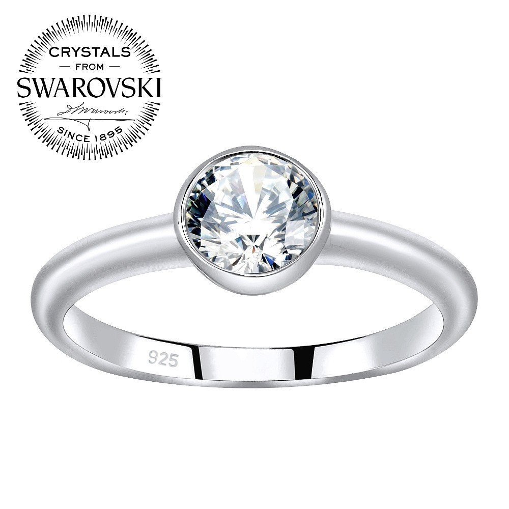 7b41c0593 SILVEGO stříbrný prsten ISADORA se Swarovski® Zirconia JJJR1120SW