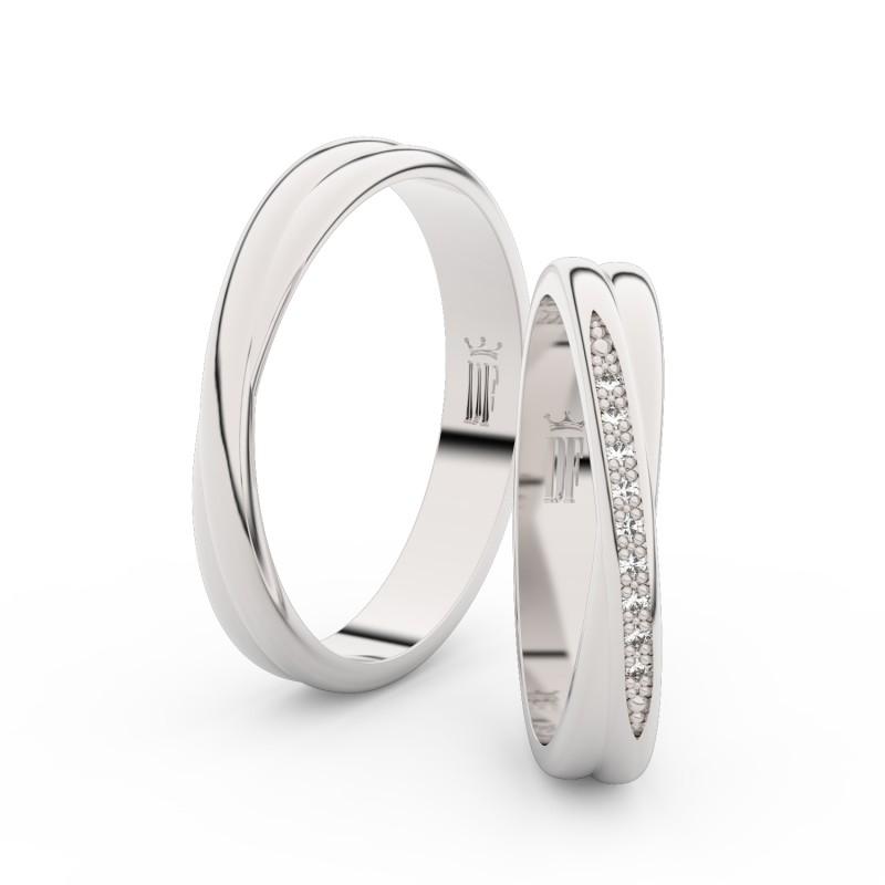 Stříbrné snubní prsteny D3019