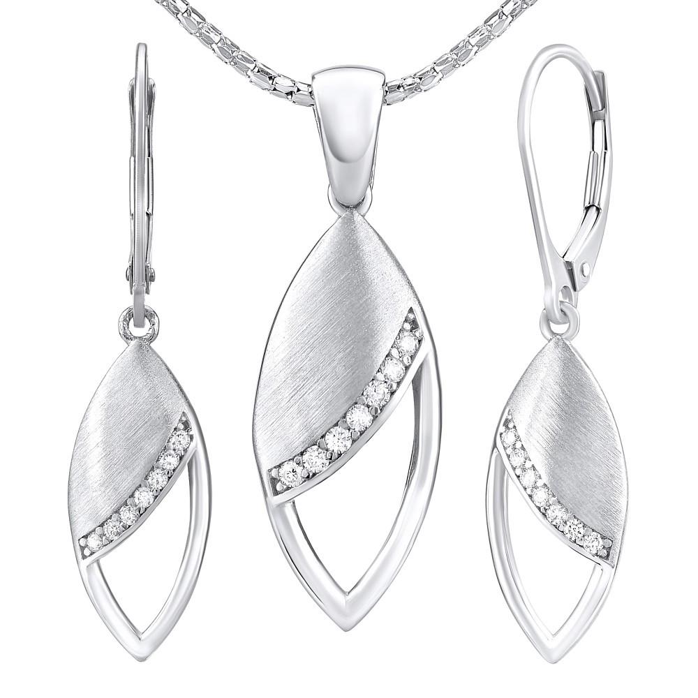 Stříbrný set šperků ELISE - náušnice a přívěsek