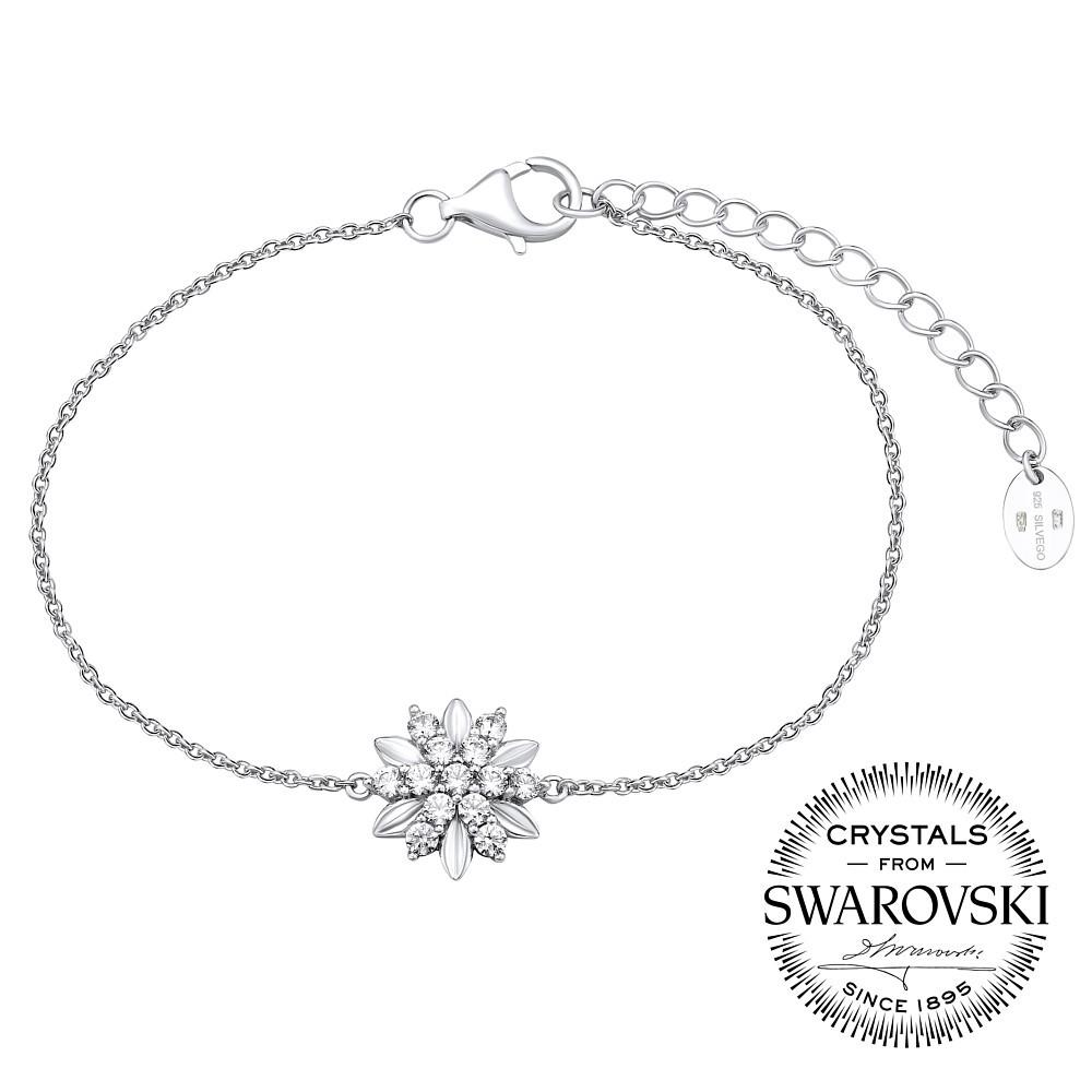 SILVEGO stříbrný náramek ALIVIA se Swarovski® Zirconia