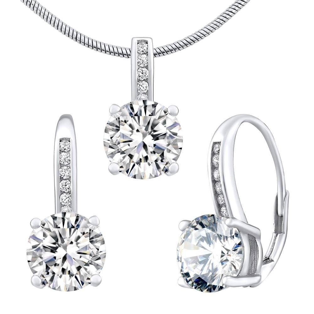 Stříbrný set šperků VERITY náušnice a přívěsek