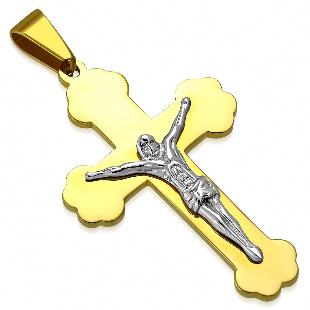 Přívěsek z chirurgické oceli kříž XXP969