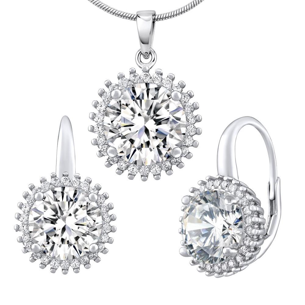 Stříbrný set šperků ANDROMEDA náušnice a přívěsek