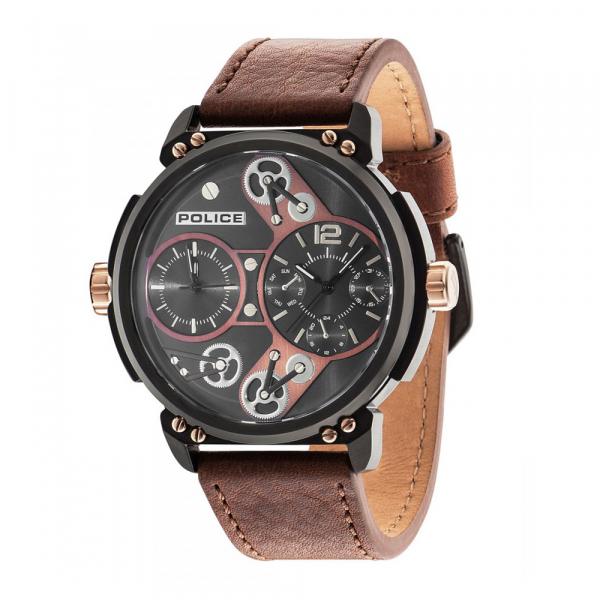 Pánské hodinky Police PL14693JSB/12A Steampunk Herren 54mm 5ATM