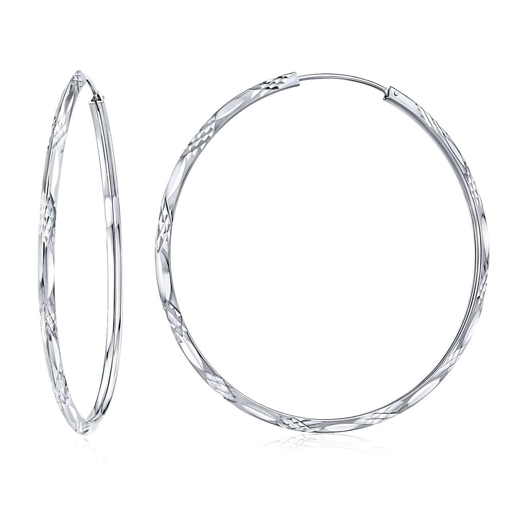Stříbrné ryté náušnice kruhy 50 mm db43f375518