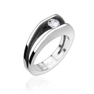 Prsten z chirurgické oceli R8003 (Prsten z chirurgické oceli R8003)