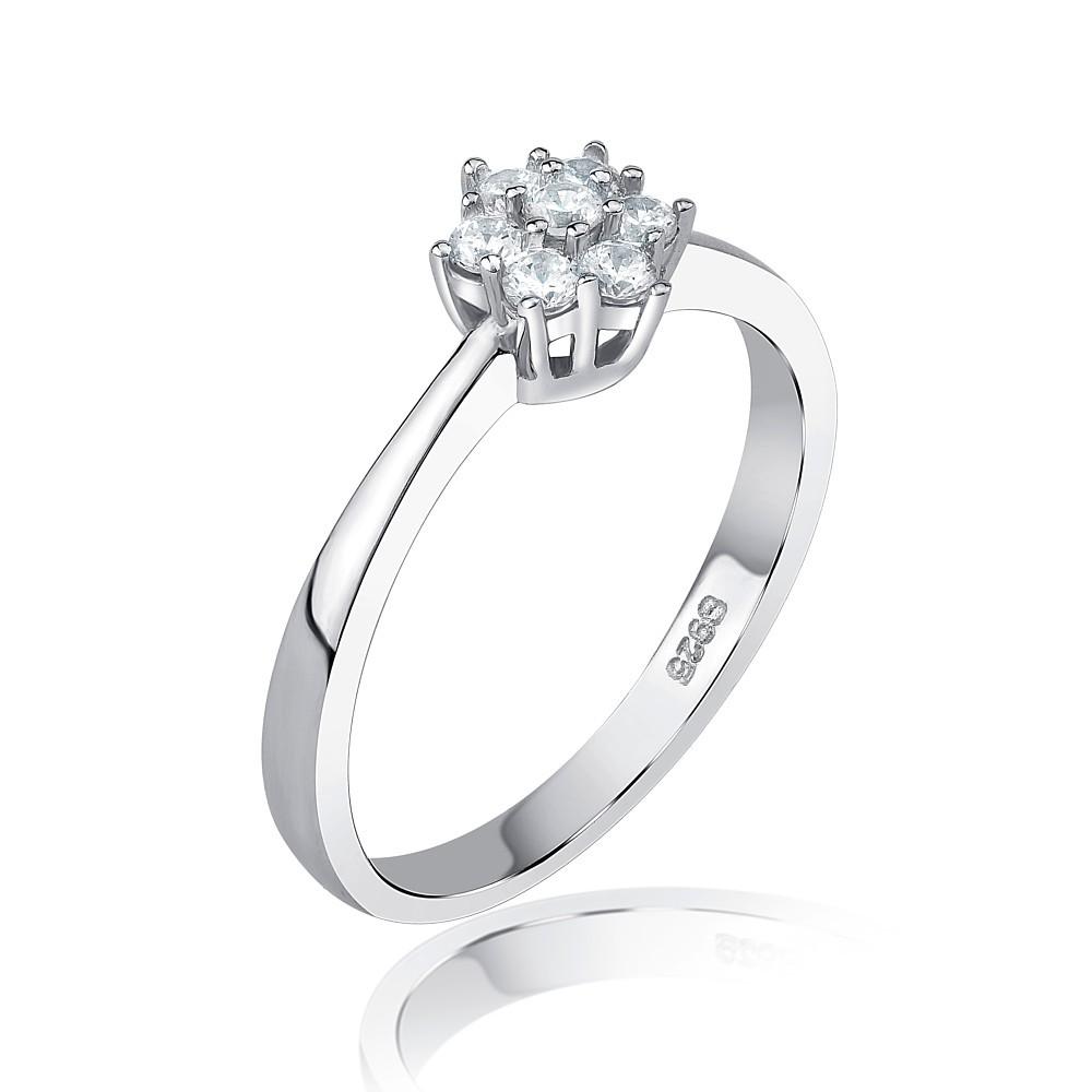 a795f83f7 SILVEGO stříbrný prsten FLORA se Swarovski® Zirconia