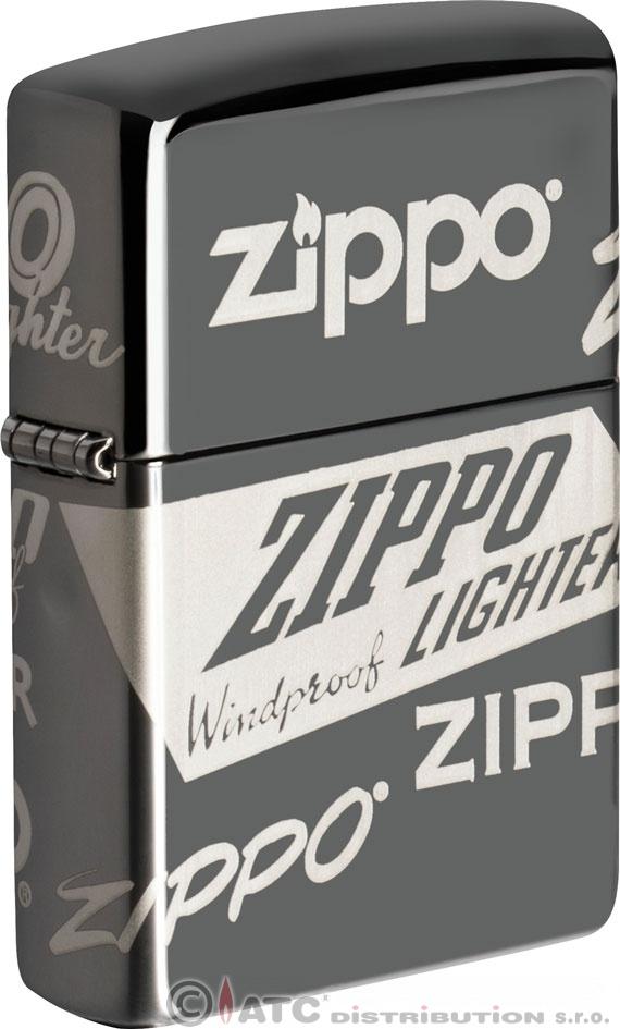 Benzínový zapalovač Zippo ZIPPO LOGO (Benzín zdarma)