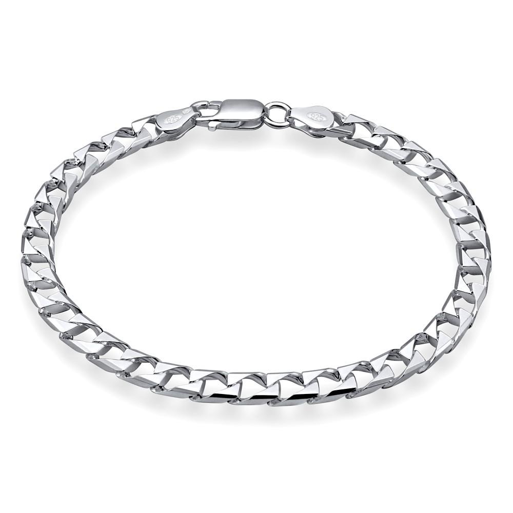 Stříbrný řetěz na ruku SQUARE CURB Pancr 6,4 mm