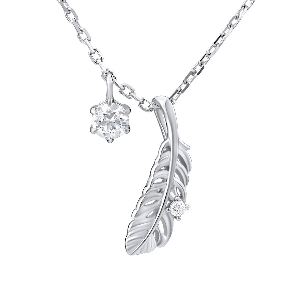 SILVEGO stříbrný náhrdelník s pírkem se Swarovski® Zirconia