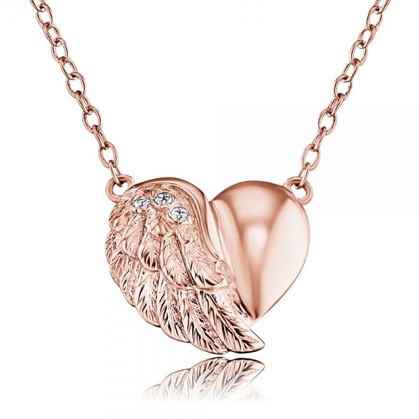 Engelsrufer Stříbrný náhrdelník srdce strom života ERN-LILHW-R