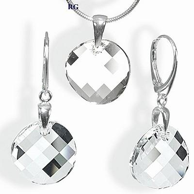 Stříbrný set - Twist 18mm vyroben s CRYSTALLIZED™ – Swarovski Elements LSW062S (Stříbrný set - Twist 18mm vyroben s CRYSTALLIZED™ – Swarovski Elements LSW062S)