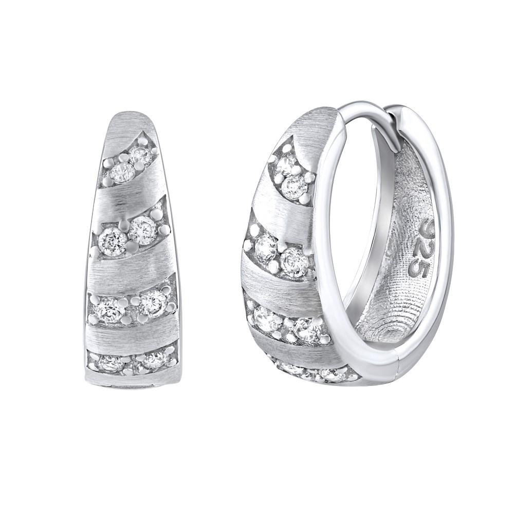 Luxusní stříbrné náušnice MIA se zirkony