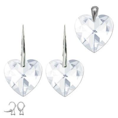 Stříbrný set - Srdce vyroben s CRYSTALLIZED™ – Swarovski Elements 01632WI62 (Stříbrný set - Srdce vyroben s CRYSTALLIZED™ – Swarovski Elements 01632WI62)
