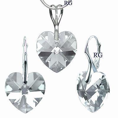 Stříbrný set šedý - vyroben s CRYSTALLIZED™ – Swarovski Elements LSW037S (Stříbrný set šedý - vyroben s CRYSTALLIZED™ – Swarovski Elements LSW037S)
