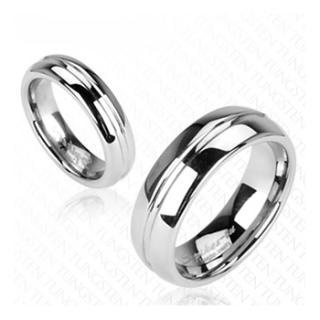 Wolframové snubní prsteny R-TU-117