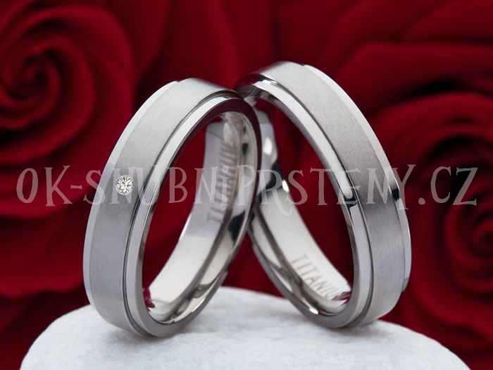 Titanové snubní prsteny JT004 (Titanové snubní prsteny JT004)