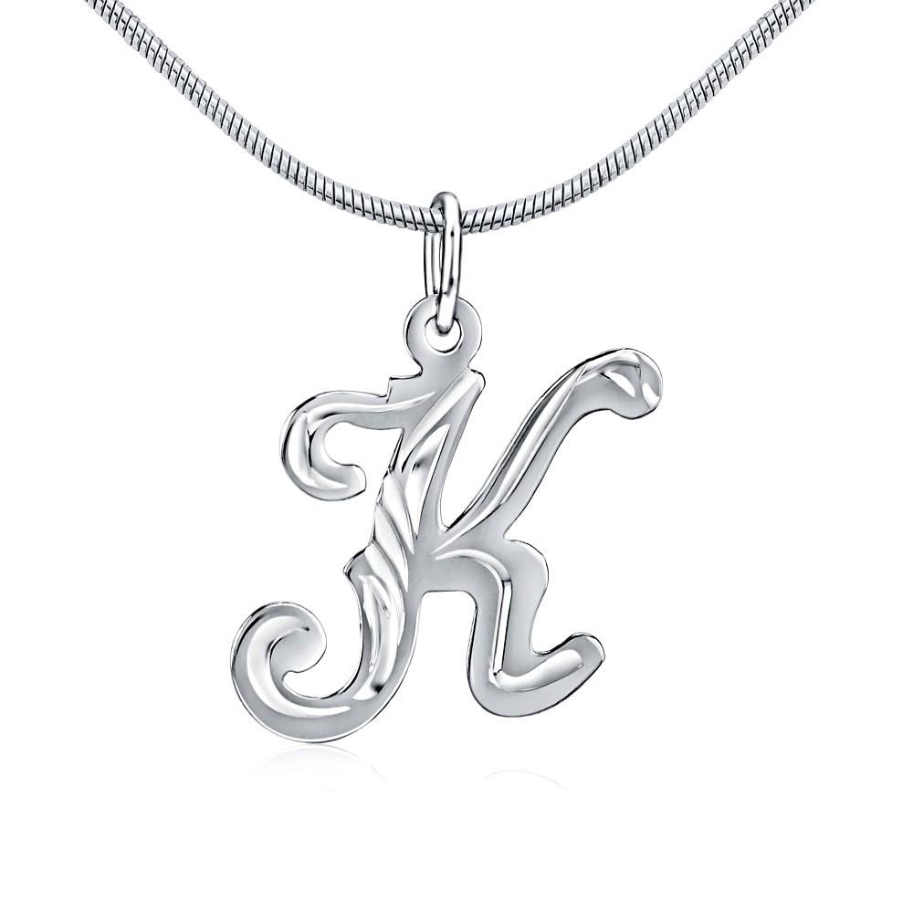 Stříbrný přívěsek písmeno K
