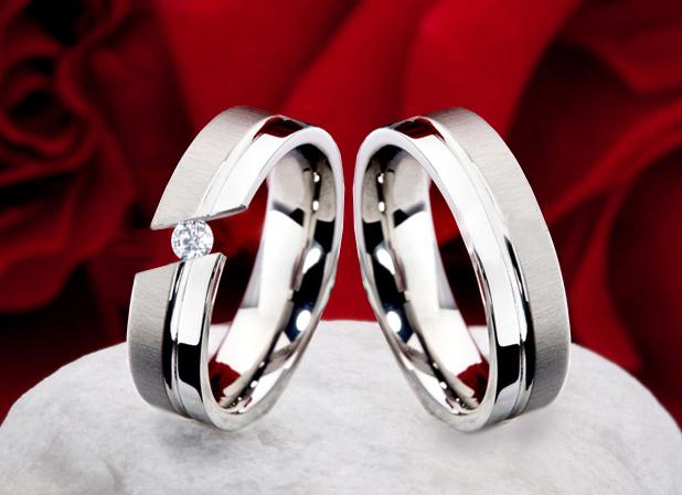 Snubní Titanové prsteny JT005 (Snubní Titanové prsteny JT005)