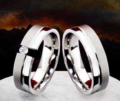 Snubní Titanové prsteny OKU-980 (Snubní Titanové prsteny OKU-980)