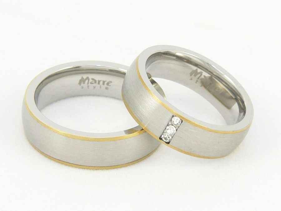 Snubní prsteny chirurgická ocel 1 pár MAR002 (Snubní prsteny chirurgická ocel 1 pár MAR002)