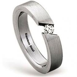 Zásnubní prsten z chirurgické oceli RSS227