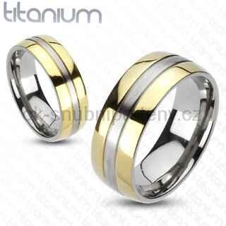 Titanové snubní prsteny R-TM-3042 (Titanové snubní prsteny R-TM-3042)