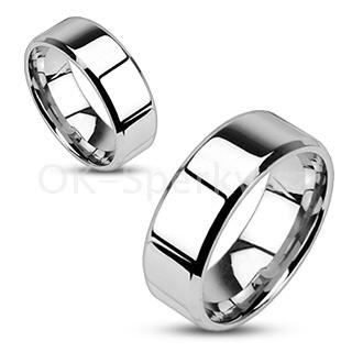 Snubní prsteny z chirurgické oceli R-M0006 (Snubní prsteny z chirurgické oceli R-M0006)
